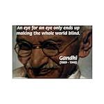 Peace Activist Gandhi Rectangle Magnet (100 pack)
