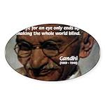 Peace Activist Gandhi Oval Sticker