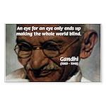 Peace Activist Gandhi Rectangle Sticker