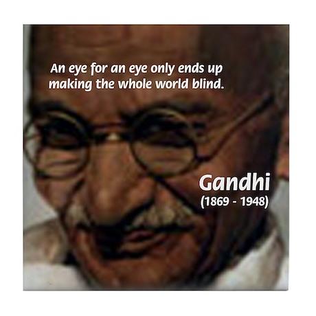 Peace Activist Gandhi Tile Coaster