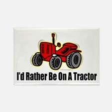 Funny Tractor Rectangle Magnet (100 pack)
