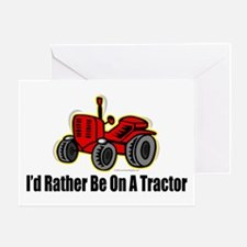 Funny Tractor Greeting Card