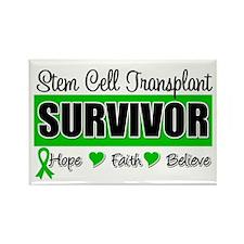 Stem Cell Transplant Survivor Rectangle Magnet