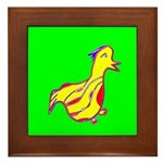 Duck Framed Tile (Yellow & Green)