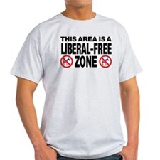 This Area Is A Liberal-Free Zone T-Shirt