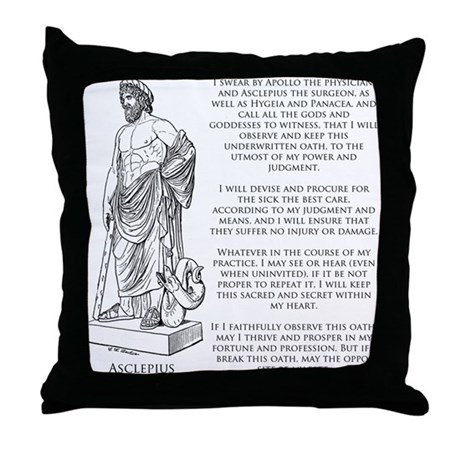 Hippocratic Oath Throw Pillow