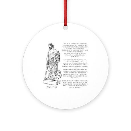 Hippocratic Oath Ornament (Round)