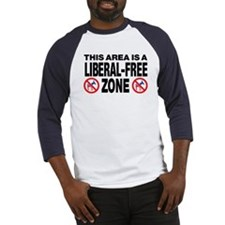 This Area Is A Liberal-Free Zone Baseball Jersey
