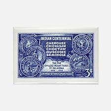 Funny Indians vintage Rectangle Magnet