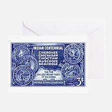 Cute Cherokee vintage Greeting Card