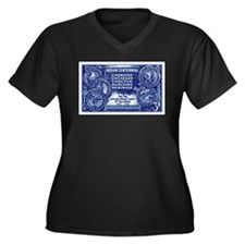Unique Chickasaw indians Women's Plus Size V-Neck Dark T-Shirt
