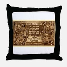 Unique Cherokee vintage Throw Pillow