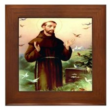 St. Francis Framed Tile