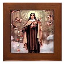 ST. Theresa Framed Tile