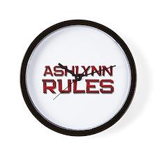 ashlynn rules Wall Clock