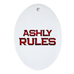 ashly rules Oval Ornament