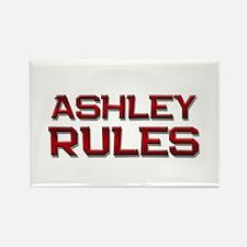 ashley rules Rectangle Magnet