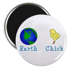 "Earth Chick 2.25"" Magnet (10 pack)"