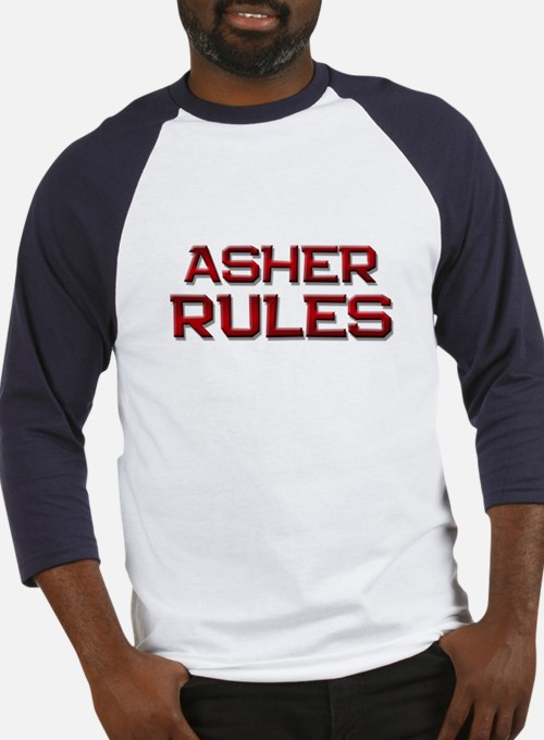 asher rules Baseball Jersey