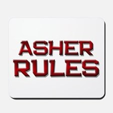 asher rules Mousepad