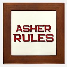 asher rules Framed Tile