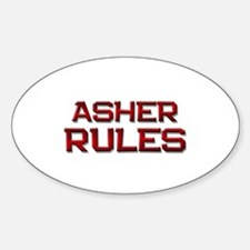 asher rules Oval Decal