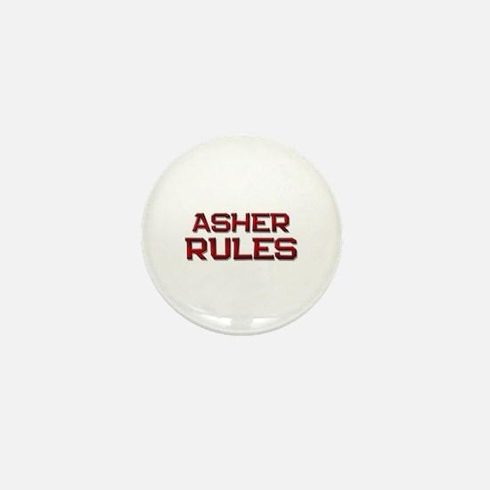 asher rules Mini Button