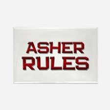 asher rules Rectangle Magnet