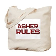 asher rules Tote Bag