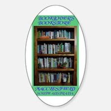 BOOKLOVER'S BOOKSTORE Oval Decal