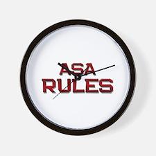 asa rules Wall Clock