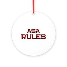 asa rules Ornament (Round)