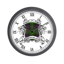 Sutherland Tartan Shield Wall Clock