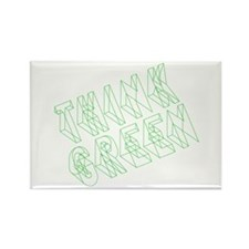green think Rectangle Magnet