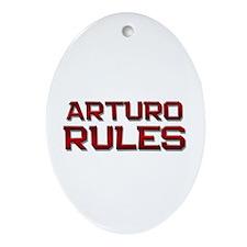 arturo rules Oval Ornament