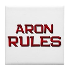 aron rules Tile Coaster