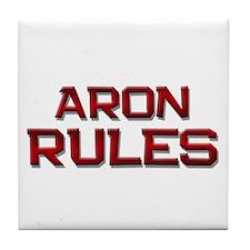 aron rules Tile Coaster