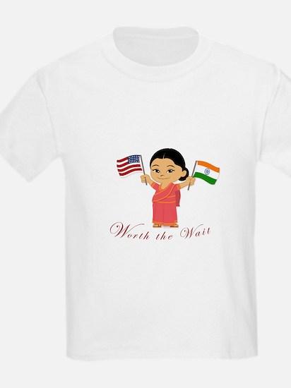 Worth the Wait Adoption India T-Shirt