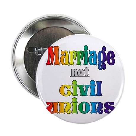 """Marriage Not Civil Unions 2.25"""" Button (100 pack)"""