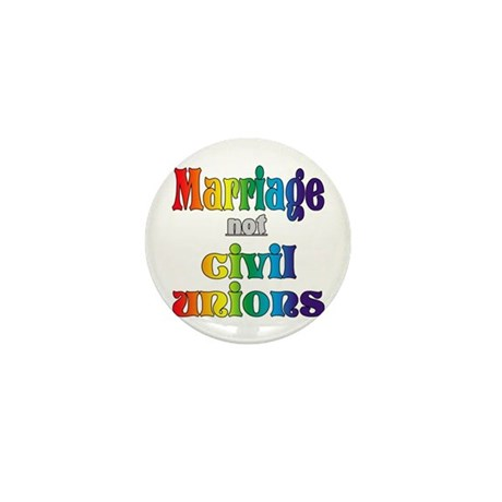 Marriage Not Civil Unions Mini Button (10 pack)