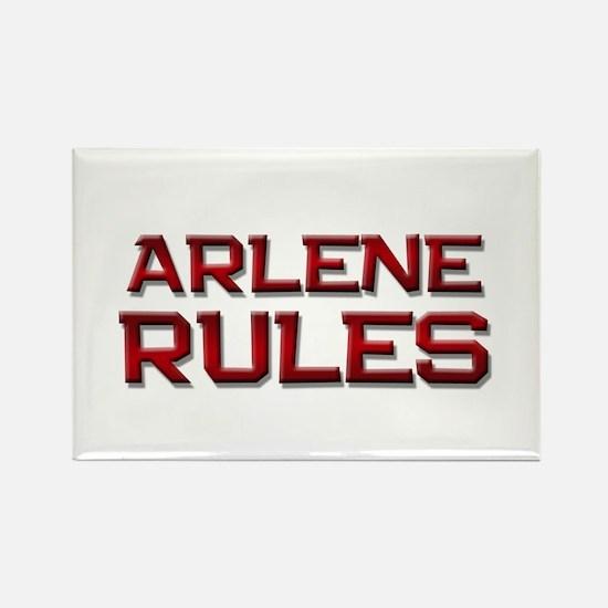 arlene rules Rectangle Magnet