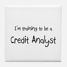 I'm training to be a Credit Analyst Tile Coaster