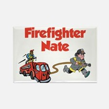 Firefighter Nate Rectangle Magnet