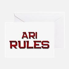 ari rules Greeting Card