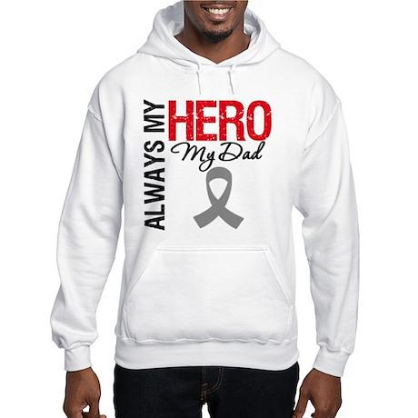 Brain Cancer Hero Dad Hooded Sweatshirt