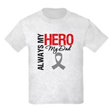 Brain Cancer Hero Dad T-Shirt
