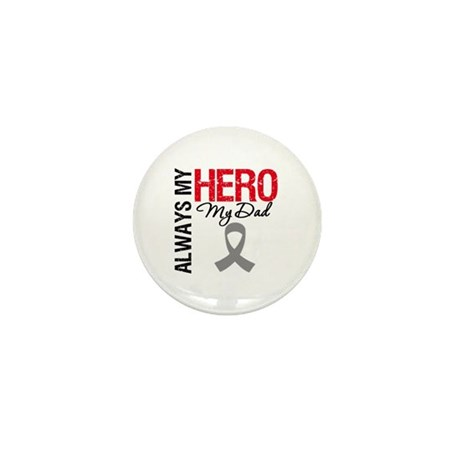 Brain Cancer Hero Dad Mini Button