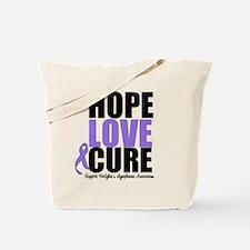 Hodgkins Hope Love Cure Tote Bag