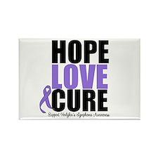 Hodgkins Hope Love Cure Rectangle Magnet