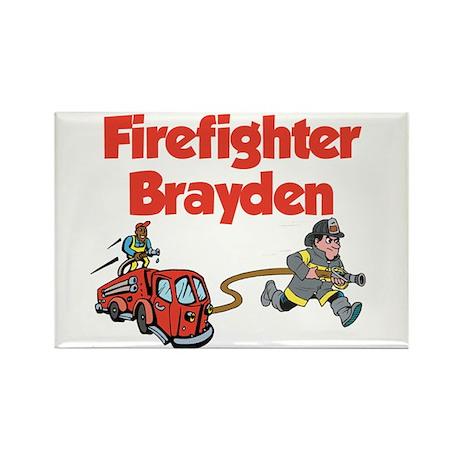 Firefighter Brayden Rectangle Magnet